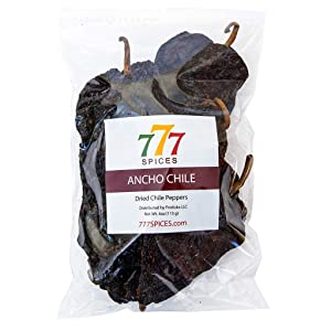 4oz Ancho Poblano Dried Whole Chiles Peppers, Natural Dehydrated Chili Pods for Authentic Mexican Food, Heat-Sealed Resealable Bag