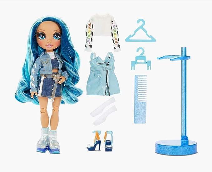 Amazon.com: Rainbow Surprise Rainbow High Skyler Bradshaw – Blue Fashion Doll with 2 Outfits
