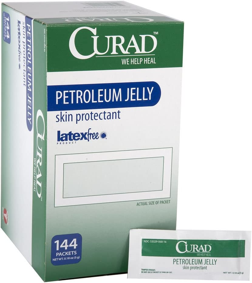 Medline Curad Petroleum Jelly, 144 Count