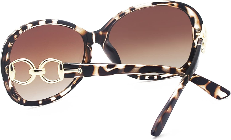 Leopard Frame Brown Lens, 60 VeBrellen Luxury Women Polarized Sunglasses Retro Eyewear Oversized Goggles Eyeglasses