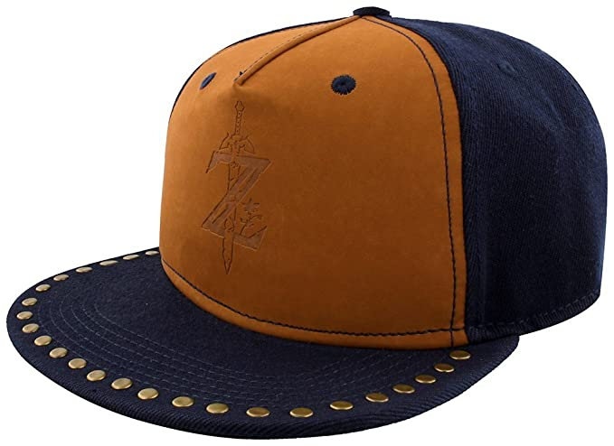 newest 3f24f b91ec Image Unavailable. Image not available for. Color  The Legend Of Zelda  Breath Of The Wild - Z Game Logo Snapback Cap ...