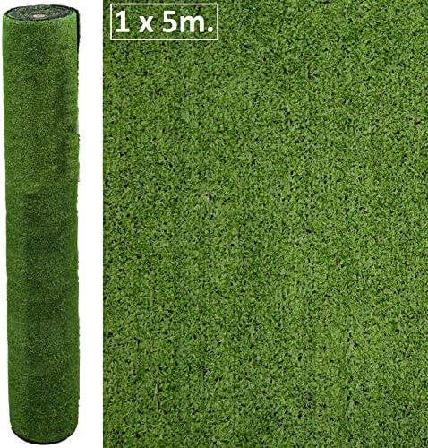 Mirtux - Cesped artificial Premium. Altura de 7mm. Rollos de 1x5 ...