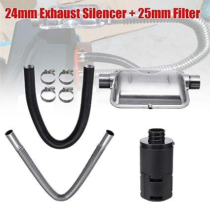 Fansport Los Accesorios del Calentador De Aire Diesel Configuran Silenciador De Escape Universal para AutomóVil