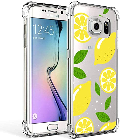 Galaxy S7 Edge Case Clear with Lemon Design Shockproof Protective Case for  Samsung Galaxy S7 Edge 0a9b79ade6f7