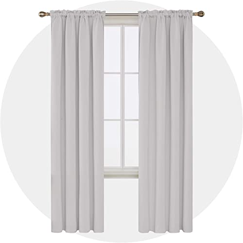 Deconovo-Rod Pocket Blackout Curtains Thermal Insulated Panel