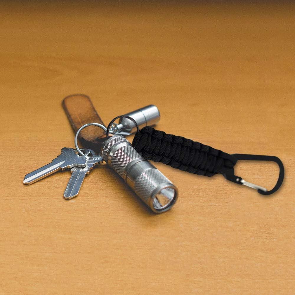 Anzug f/ür jedermann geflochtene Lanyard Ring Haken Clip f/ür Schl/üssel Taschenlampe Outdoor Camping Wandern Rucksack ZQEU Paracord Schl/üsselanh/änger mit Karabiner