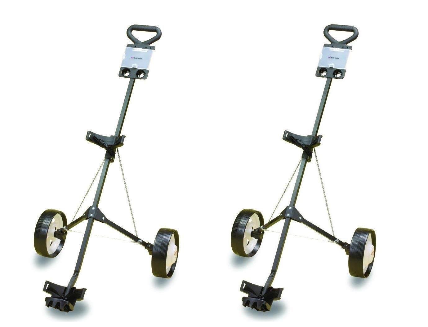 JEF WORLD OF GOLF Deluxe Steel Golf Cart (2-Pack)