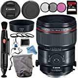 Canon TS-E 90mm f/2.8L Macro Tilt-Shift Lens 2274C002 + 77mm 3 Piece Filter Kit + 77mm Macro Close Up Kit + 256GB SDXC Card + Lens Cap Keeper + Lens Pen Cleaner + Deluxe Starter Kit Bundle
