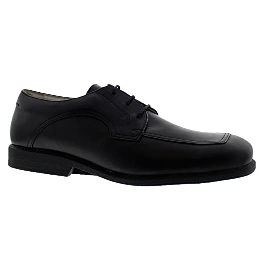 Double With Lace-Up Black Flat Oxford Leather Women Comfort Cushioned & Anatomic