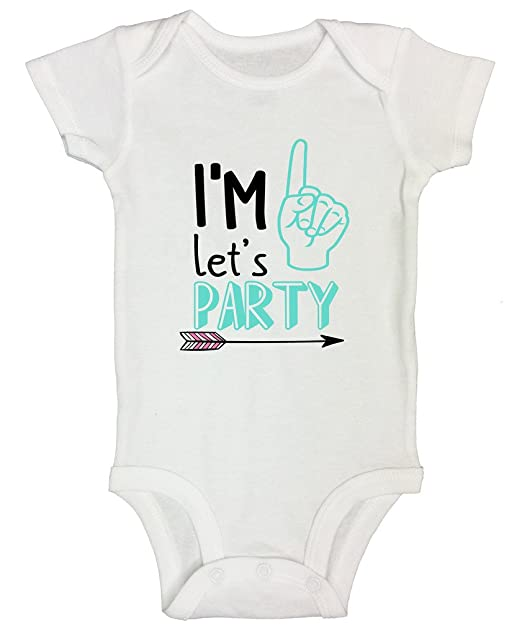 5041caf774c Amazon.com  Funny Threadz Kids Boys 1st Birthday Onesie - 1 Year Old Bday  Shirt