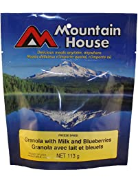 Mountain House Granola with Milk and Blueberries