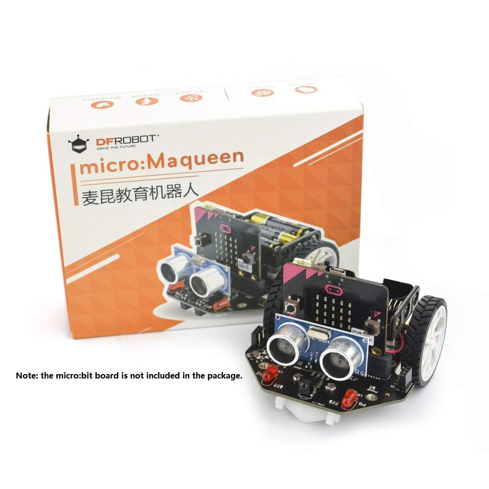 DFROBOT Micro: Maqueen Micro:bit Robot Platform - Graphical Programming Educational Robot Car for Kids - STEM Learning DIY Mini Robot Kit for Maker Education by DFROBOT (Image #3)