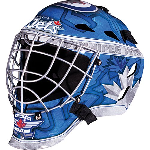 Franklin Sports Winnipeg Jets Goalie Mask - Team Graphic Goalie Face Mask - GFM1500 Only for Ball & Street - NHL Official Licensed Product]()