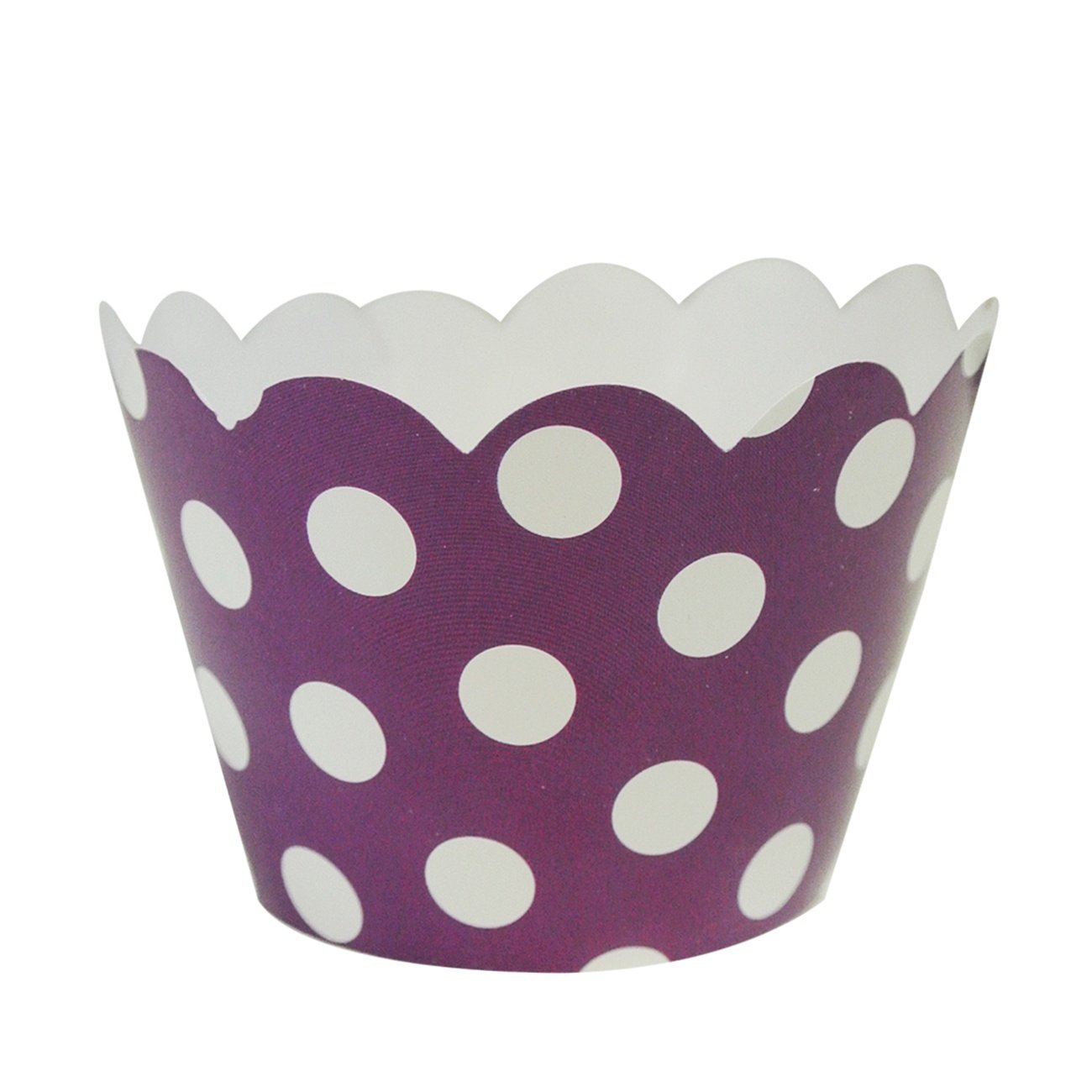 Wrapables Standard Size Polka Dots Cupcake Wrappers Hot Pink A67063c Set of 20