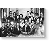 "HAOSHUNDA Gangster Collage Poster Oil Painting on Canvas Posters and Prints Decoracion Wall Art Picture Living Room Wall (12"" x 18"", Artwork - 03)"