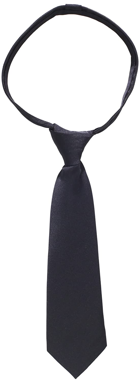 American Exchange Little Boys Little Solid Zipper Tie