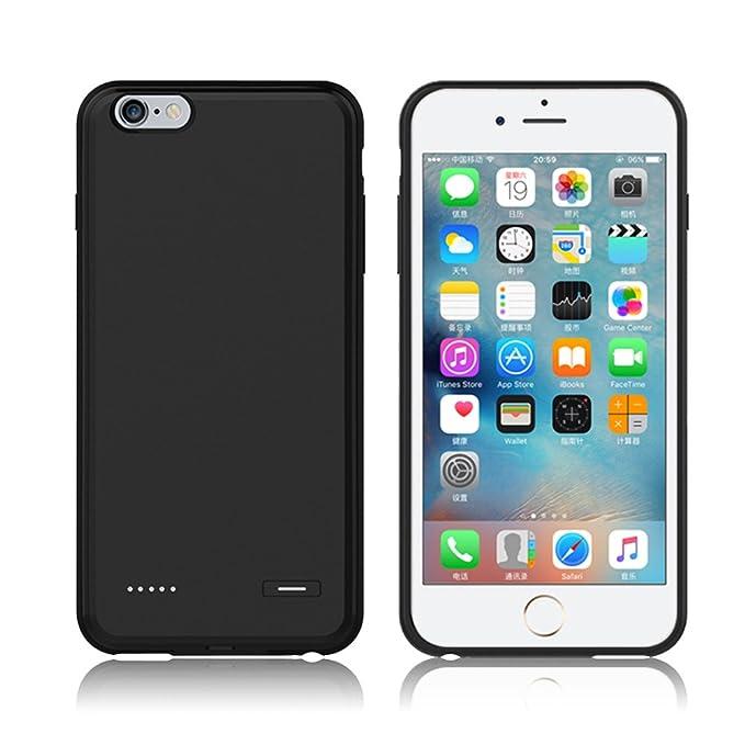 iPhone 6/iPhone 6s/Plus battery Power Case (ultrafina, ligera carcasa de Backup Power Cargador de batería externa para iPhone 6/6S/Plus, Black(Plus), ...