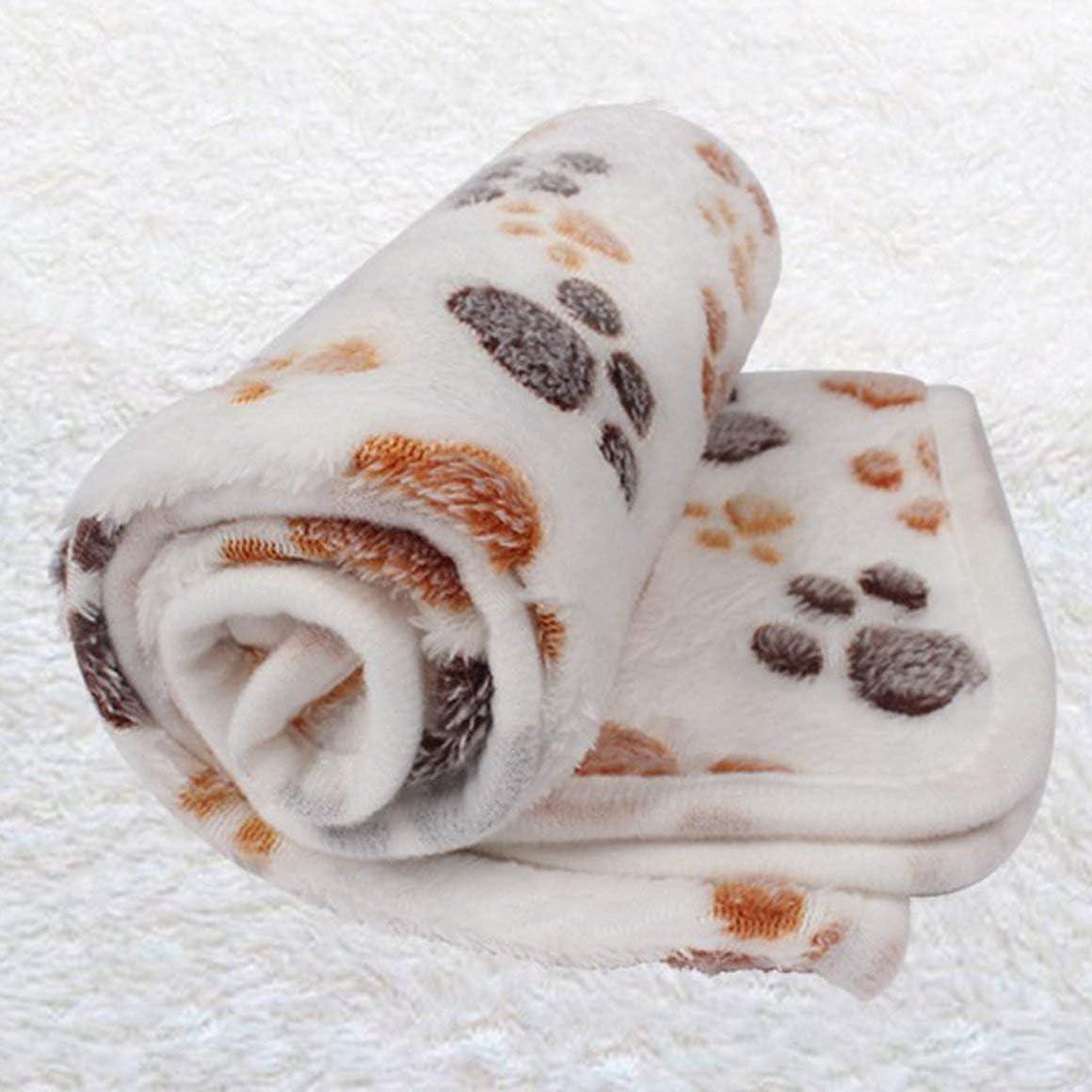 Monrodbitt Pet blanket dog blanket coral velvet pad warm padded cat cat winter sleeping pad autumn and winter dog blanket