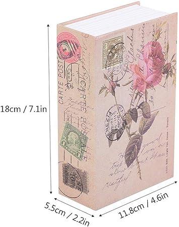 Mini Caja Seguridad Creativo Libro Dinero Colección Joyas Almacenamiento Caja Libro Diversión Caja Almacenamiento Segura Diccionario Secreto Caja Oculta Segura(Rosa),Rose: Amazon.es: Hogar