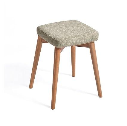 Amazon.com: HCJSFD JCRNJSB Sofa stool Solid wood stool ...