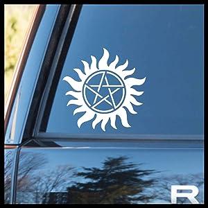 Anti-Possession symbol, TVs Supernatural-inspired SMALL Vinyl Car/Laptop Decal