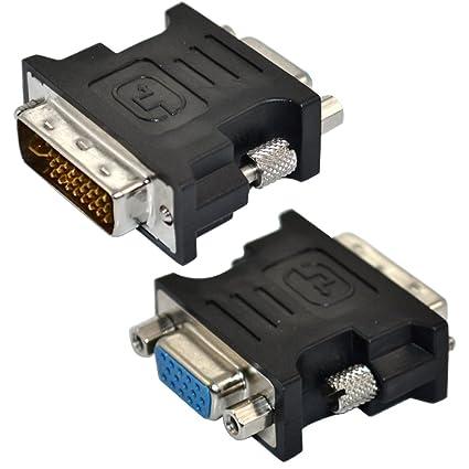DVI-I 24 + 5 pin macho a VGA hembra SVGA 15 pin adaptador de tarjeta de Video