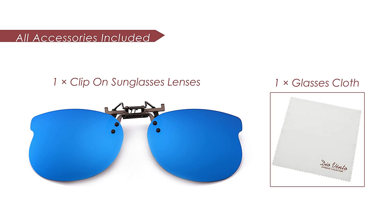 b58efcd229 Amazon.com  Diovento Polarized Clip-on Flip Up Rimless Sunglasses for Kid  Prescription Glass  Clothing