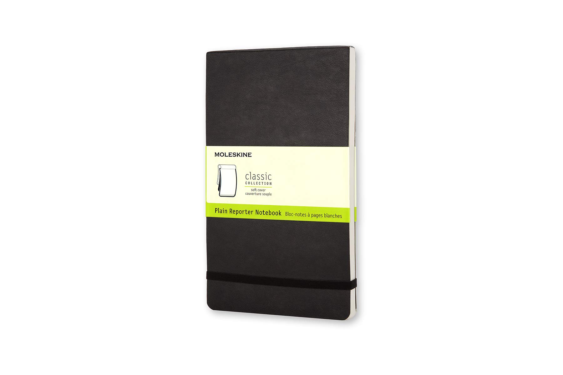 Moleskine Classic Soft Cover Reporter Notebook, Plain,...