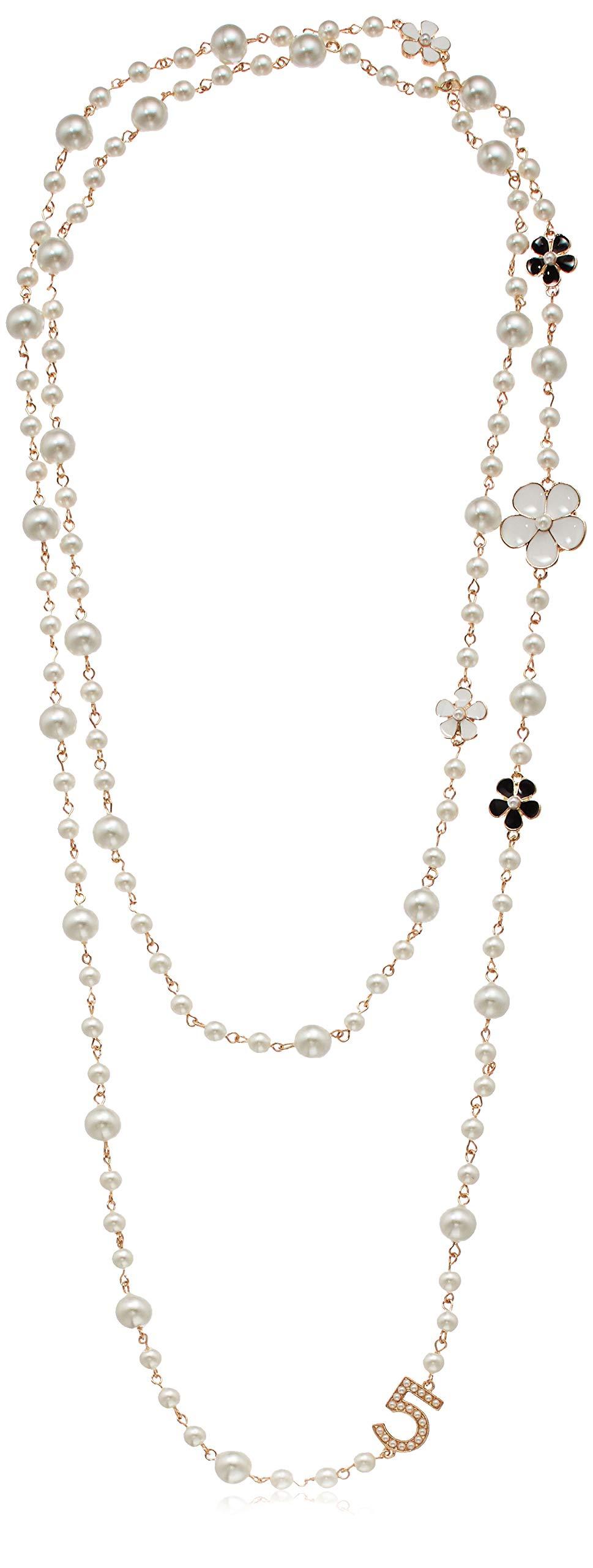 Fashion Jewelry Multipurpose White Imitation Pearl Celebrity Bridal Necklace by Fashion Jewelry