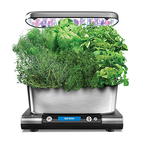 AeroGarden Harvest Elite with Gourmet Herb Seed Pod Kit, Stainless Steel by AeroGrow