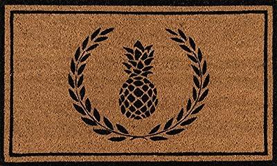 "Erin Gates by Momeni Park Pineapple Hand Woven Natural Coir Doormat 1'6"" X 2'6"""