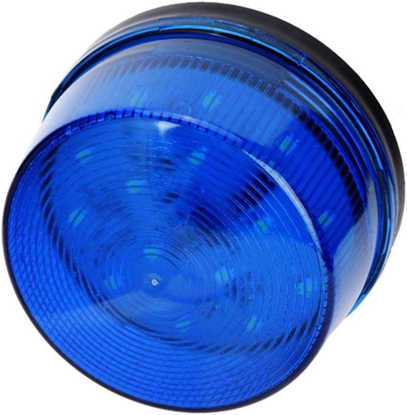 Voyant dalarme de s/écurit/é signal dalarme davertissement durgence de la balise stroboscopique bleue /à DEL bleue 12V clignotant sans son