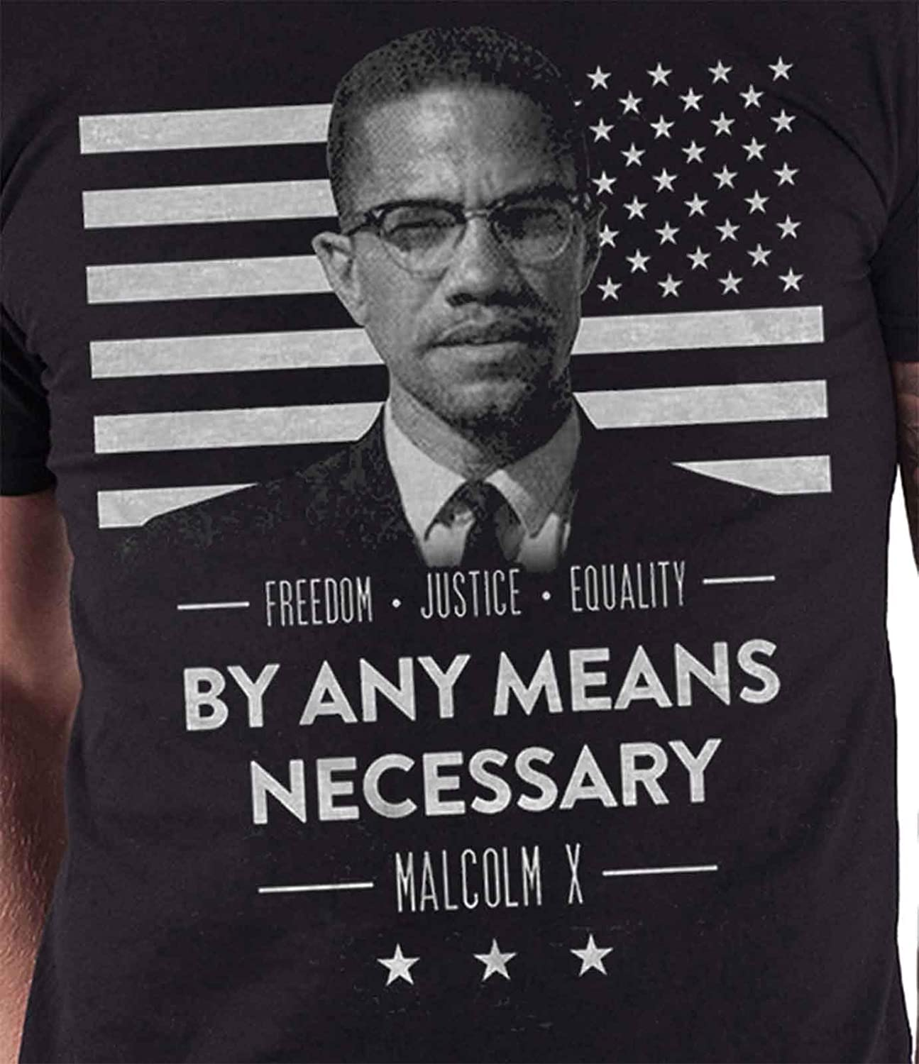 TinhCD Store Cool Malcolm X by Any Means Necessary T-Shirt Retro 90s Drama Movie for Daddy Husband T-Shirt