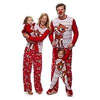 douleway Pigiami Natale Famiglia, Indumenti da Notte Costume Cotone Camicie Manica Lunga + Pantaloni Abbigliamento Felpa Natale Invernale Primaver per Uomini Donne Bambini