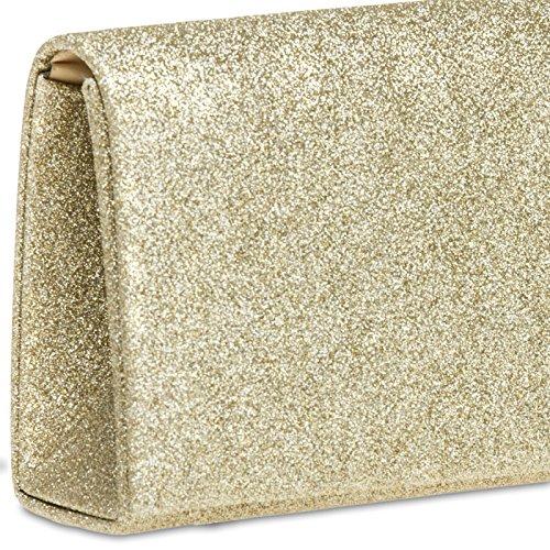Donna Oro Pochette Glitter Caspar Ta343 5zw1nS6q