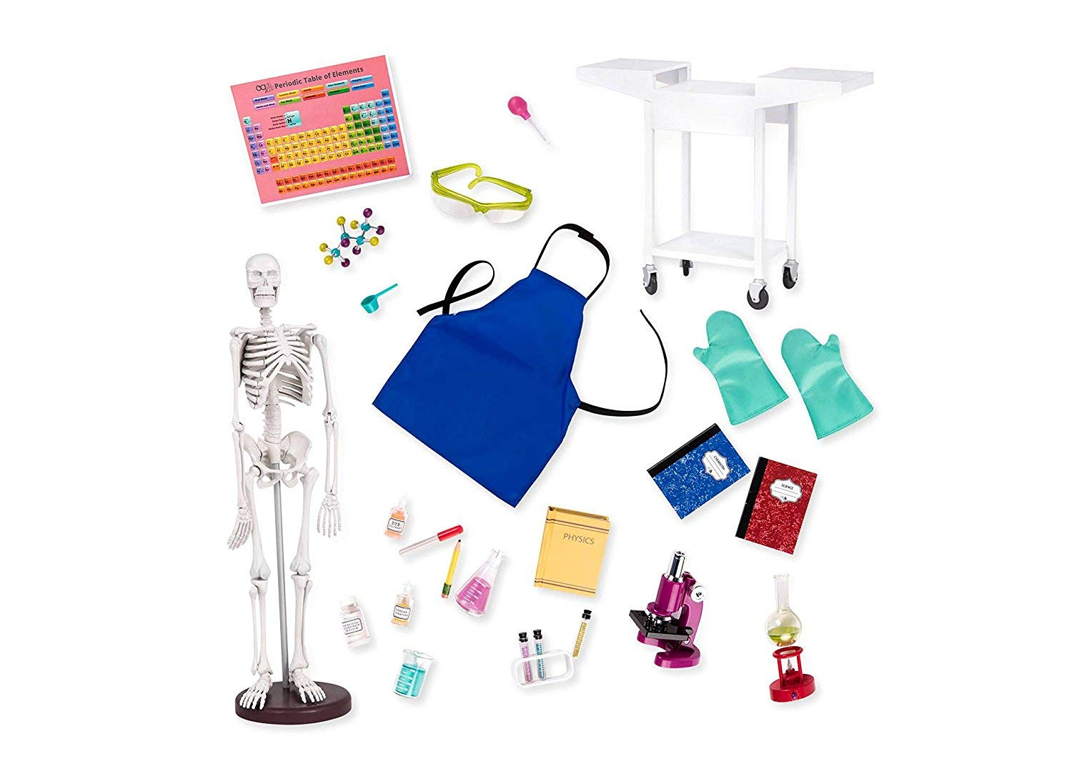 Our Generation Schoolroom Science Lab with Skeleton & Microscope   B074MJX6H5