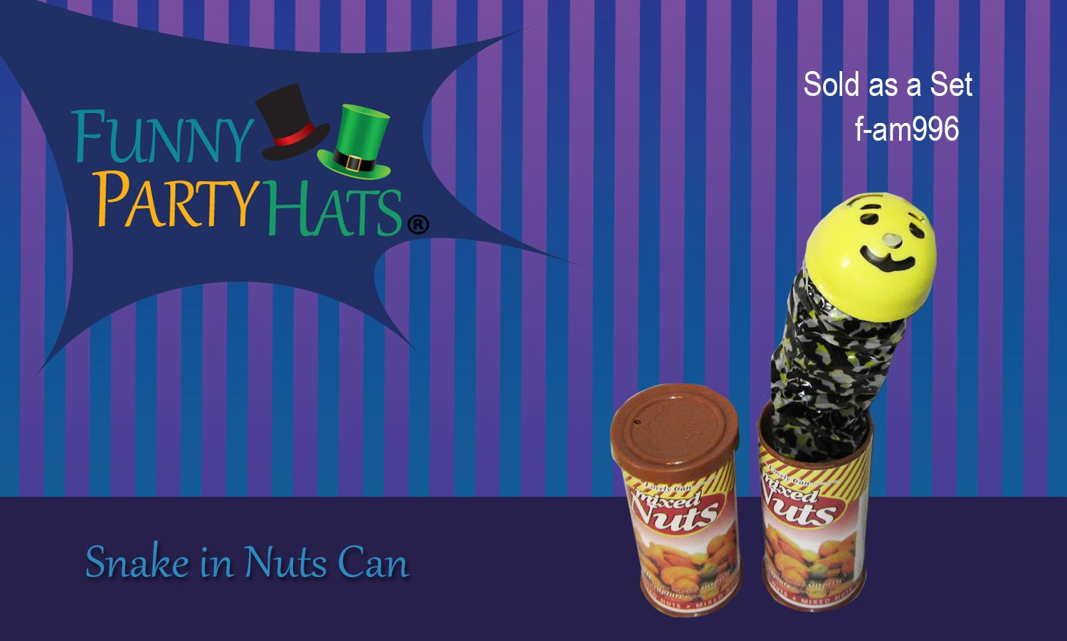 Funny Party Hats Snake In A Can Of Nuts Prank Fancy Old Fashioned Fuse Box Nut Cans Toys Games