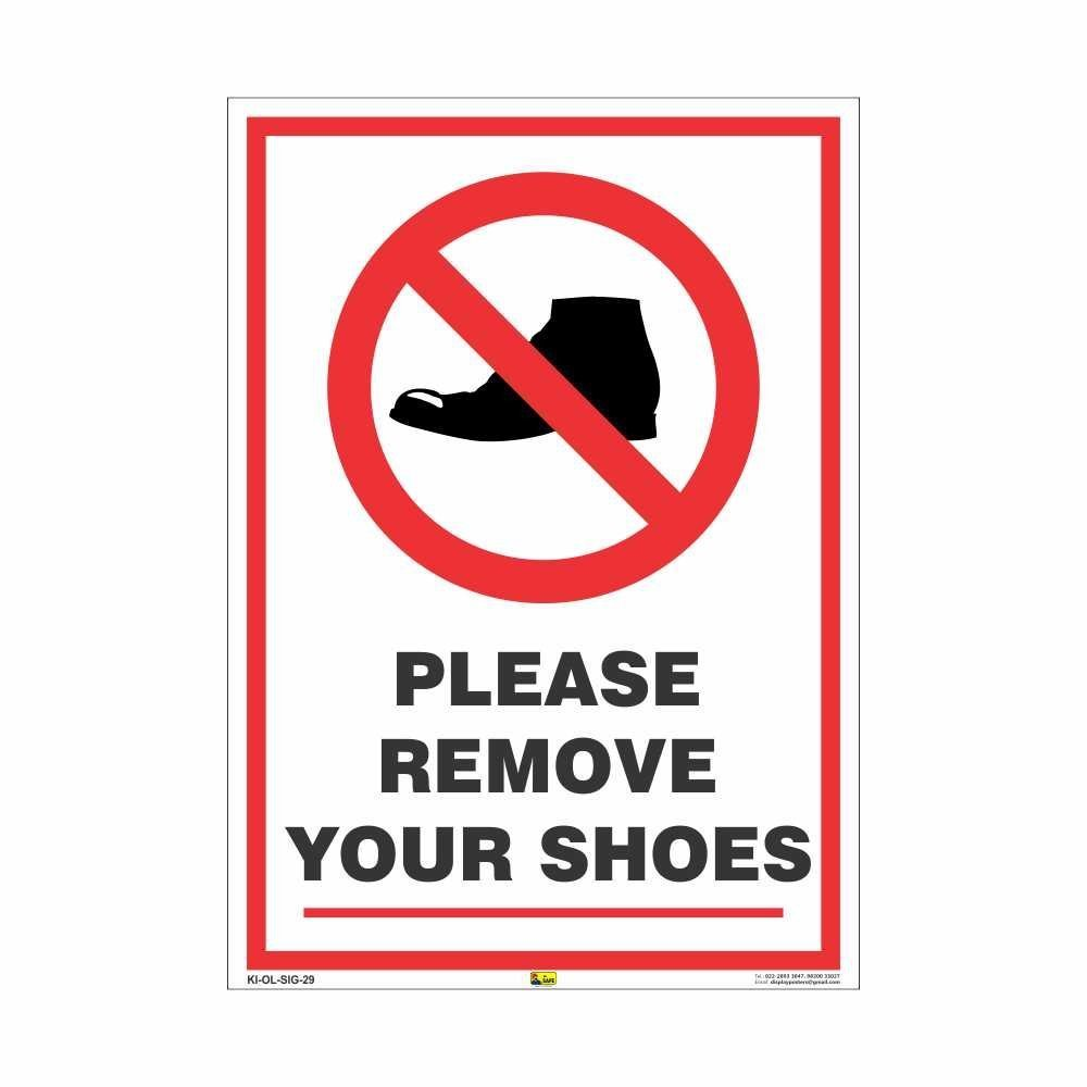 Remove Your Shoes Sign Poster Prints , Take Off Your Shoes