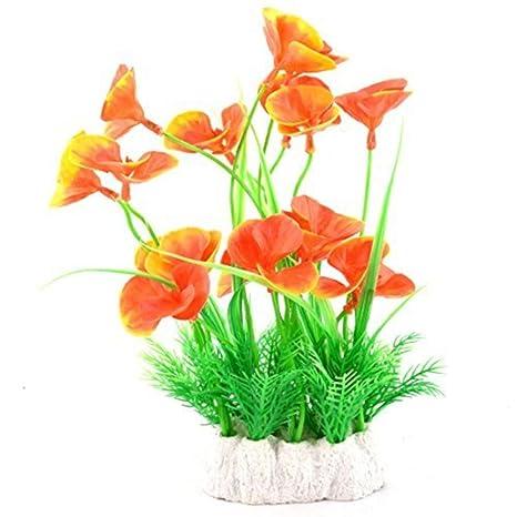 Amazon.com: MARJON FlowersPlastic Fish Tank Artificial ...
