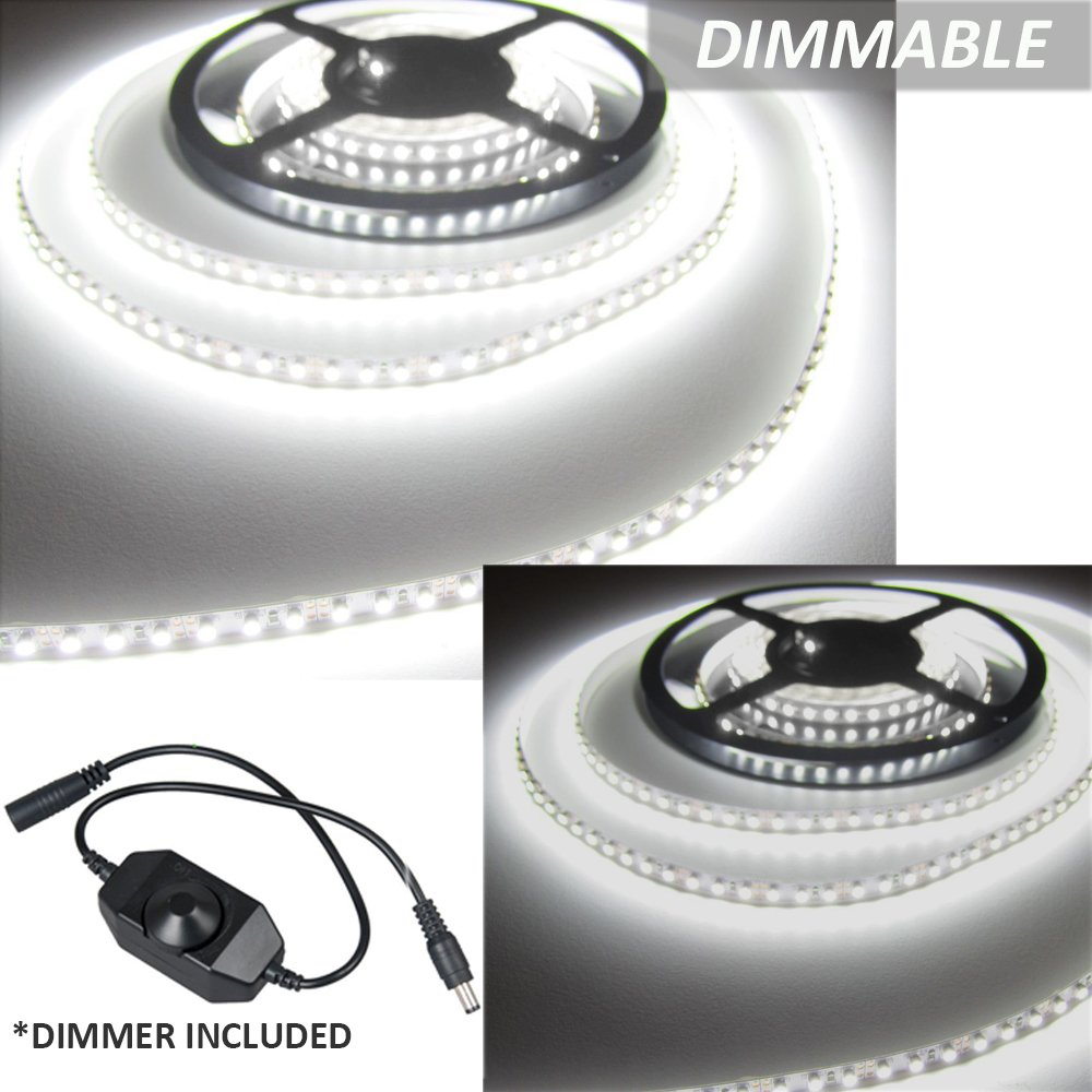 Ustellar Dimmable 600 LED Light Strip Kit with Power Supply, SMD 2835 LEDs, | eBay