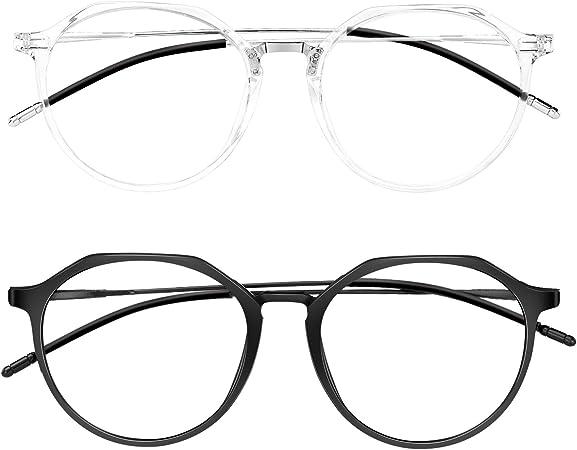 Sunolga Blue Light Blocking Glasses Eye Protection Anti Eyestrain,Lightweight Frame Phone Computer Gaming TV Glasses for Women Man Vintage Glasses
