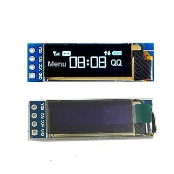 Xiuxin 2pcs I2C OLED Display Module 0 91 inch I2C SSD1306 OLED DC 3 3V~5V  Display Module 12832 Blue I2C OLED Screen Driver for Arduino