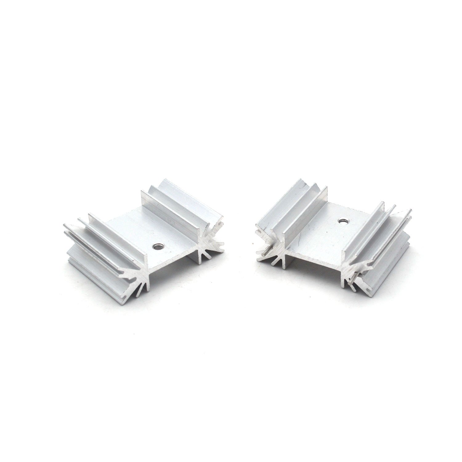 Antrader 12Pcs//Lot All Aluminum TO-3P 25 x 34 x 12mm Triode Heat Sink Aluminum Electronic Radiator for Transistor Cooler Guangzhou Openfind Electronic Commerce CO LTD