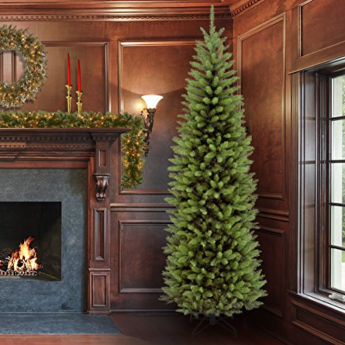 amazoncom national tree 75 foot kingswood fir pencil tree kw7 500 75 home kitchen - 14 Foot Christmas Tree