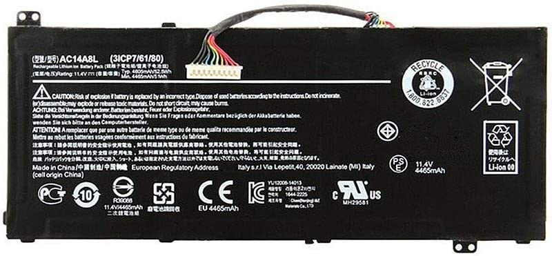 7XINbox 11.4V 52.5Wh AC14A8L Replacement Laptop Battery for Acer V15 Nitro Aspire VN7-571 VN7-591 VN7-791 VN7-591G VN7-571G VN7-572G Series Laptop