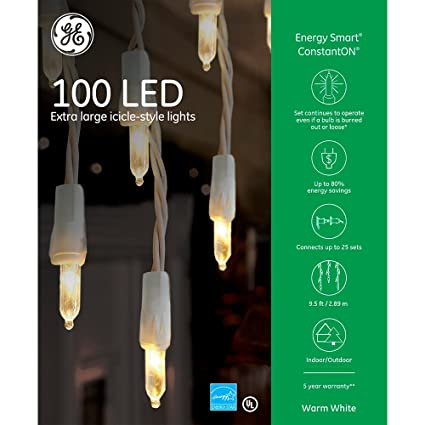 ge energy smart 100 led icicle style lights