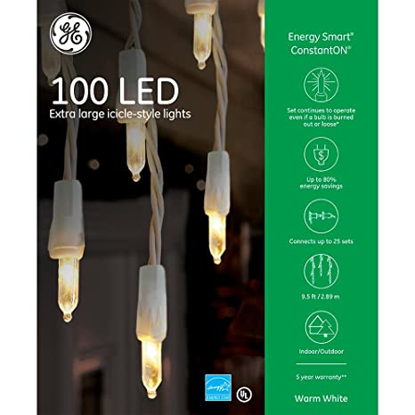 Icicle lights ge wiring schematic wiring diagrams amazon com ge energy smart 100 led icicle style lights garden ge energy smart 100 led icicle style lights cheapraybanclubmaster Images