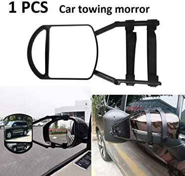 Pack of 1 Bessie Sparks Caravan External Mirrors Trailer Extension Towing Dual Glass Long Arm Wing Mirrors Car Towing Mirror
