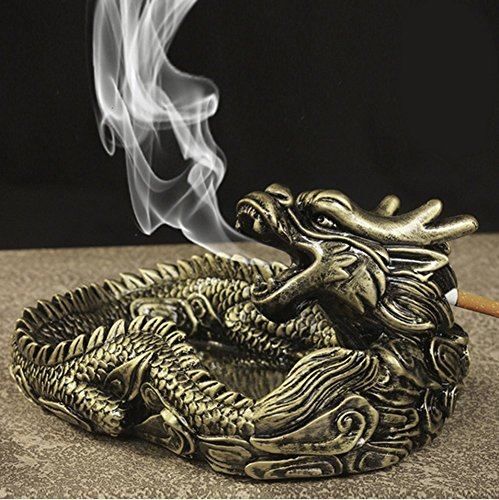 Unique Portable Living Room Ashtray for Car interior dragon ashtray