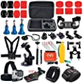 Spideer® GoPro Hero Equipment Package for Gopro Hero 4 three+ three two 1 Black Sliver Digicam for Swimming Rowing Skiing Climbing Bicycle Using Camping Diving Surf Parachute Equipment Outing Any Other Outside Sports Massive Shockproof Have Case + Upper
